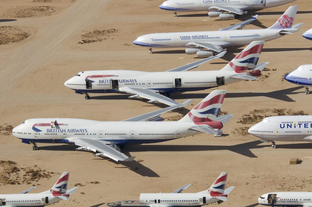 British Airways Boeing 747-436 G-BNLE at VCV