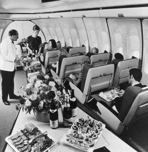 BOAC Boeing 747 Cabin Interior First Class Meal