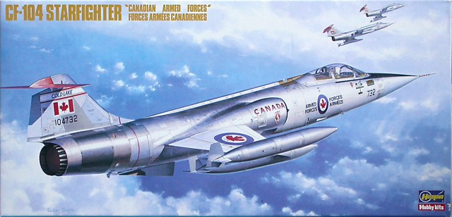 Kit box art showing the four tank configuration of the CF-104.