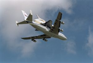 Endeavour on Shuttle Carrier Aircraft