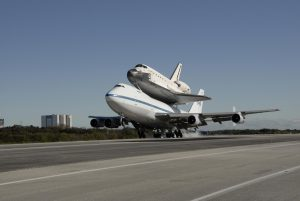 Space Shuttle Endeavour on the SCA