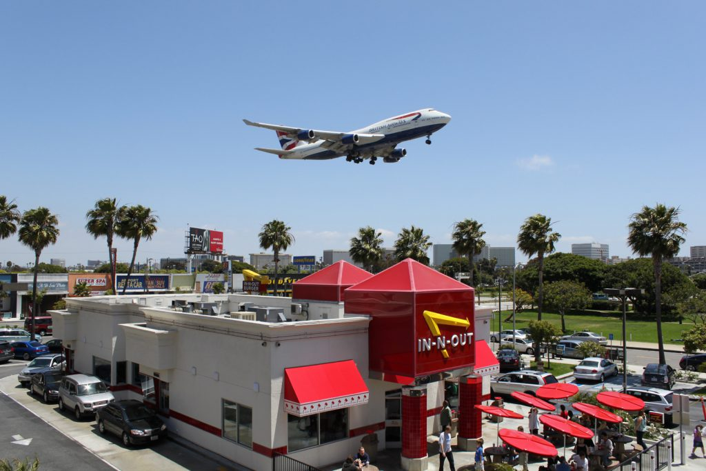 In-N-Out LAX British Airways 747-436