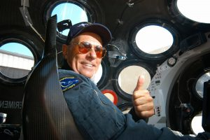 Mike Melvill in Cockpit of SpaceShip One